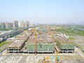 中国轻纺城跨境电商产业园工程进度